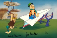 Flintstones Paper Airplane<br> Ltd Ed Cel Signed. - Flintstones