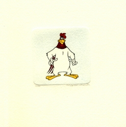 Foghorn Leghorn Looking <br>Straight Small Etching