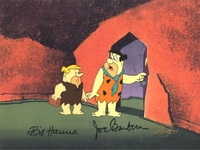 Fred and Barney <br> Signed Production Cel (1980's) - Flintstones