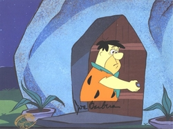 Fred at the door Production Cel(1980's)
