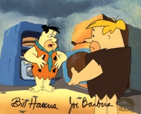 Fred & Barney Original Background signed - Flintstones