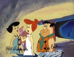 Fred, Wilma & Betty Original Prod. Cel signed