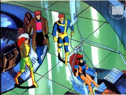 Gambit, Cyclops, Rogue, and Jean Gray
