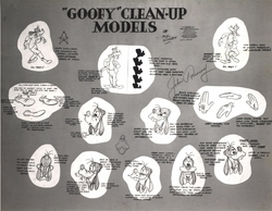 Goofy Clean-Up Models  - 1970