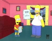 Homer & Bart from The Simpsons - Simpsons Art