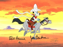 Huckleberry Hound on Horse Production Cel (1980's)<br><font color=red>Please Call