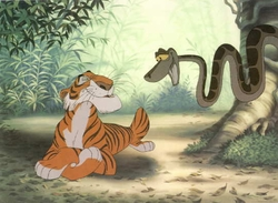 Kaa and Shere Khan Litho