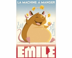 La Machine a Manger Mini Giclee on Canvas