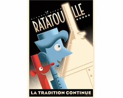 La Tradition Continue Avec Remy et Linguin Mini Giclee on Canvas