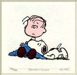 Linus and Snoopy<br> Small Etching