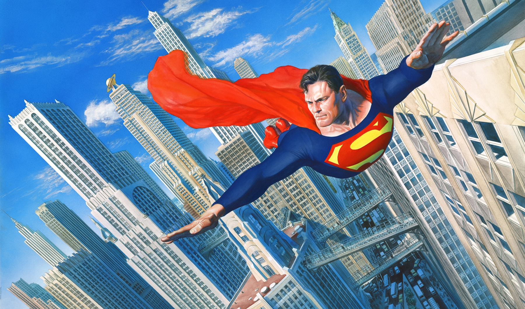 Look up in the sky superman art at choice collectibles animation look up in the sky publicscrutiny Gallery