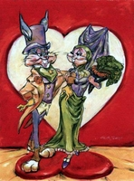 Love is in the Hare canvas - Bugs Bunny Art