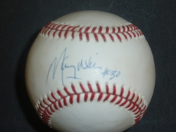 Maury Wills Signed <br> Official National League Baseball