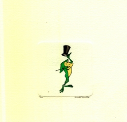 Michigan J. Frog With Top <br>Hat & Cane Small Etching