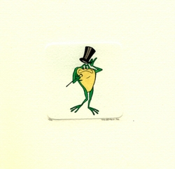 Michigan J. Frog With Top<br> Hat On Small Etching