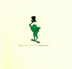 Michigan J. Frog With <br>Top Hat Small Etching