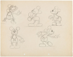 Mickey Mouse Character Studies Original Art (1930's)