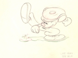 """Mickey Mouse from """"Canine Caddy""""(1941) Drawing #32"""