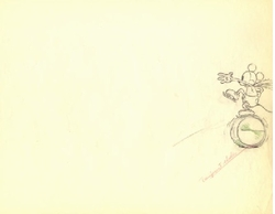 """Mickey Mouse from """"Mickey on Ice""""(1930)  Drawing#3"""