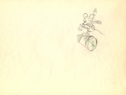 "Mickey Mouse from ""Mickey on Ice""(1930)  Drawing#8"