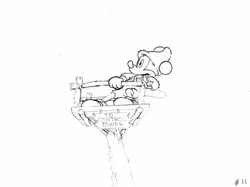 "Mickey Mouse from ""Mickey's Man Friday""(1939) Drawing #11"