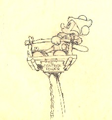 """Mickey Mouse from """"Mickey's Man Friday""""(1939) Drawing #12"""