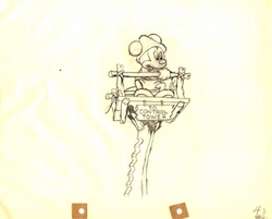 "Mickey Mouse from ""Mickey's Man Friday""(1939) Drawing #41"