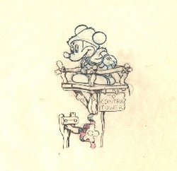"Mickey Mouse from ""Mickey's Man Friday""(1939) Drawing #83"
