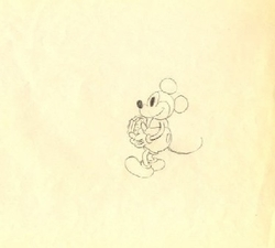 "Mickey Mouse from ""The Whoopee Party""(1932) Drawing#10"