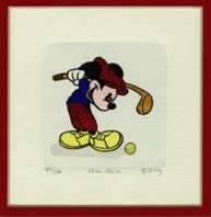 Mickey Mouse Golf #2 Numbered Etching