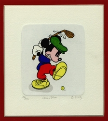 Mickey Mouse Golf #3 Numbered Etching