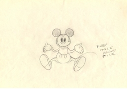 "Mickey Mouse Layout from ""Mickey's Garden""(1935) Drawing #66<br><font color=red> Please Call"