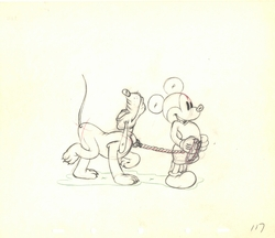 "Mickey & Pluto in<BR> ""Society Dog Show"" 1939"