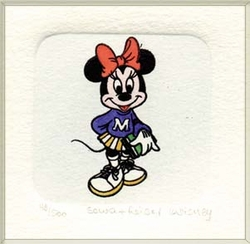 Minnie Mouse as a <br>Student Color Etching
