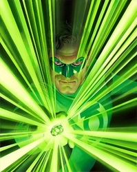 Mythology Green Lantern Canvas