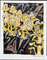 Nude Duck Descending a Staircase Daffy Duck