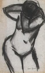 Nude Model in Charcoal