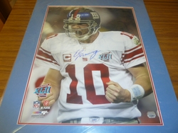 NY Giants Eli Manning <br>  Signed 16x20 Superbowl 42 Photo