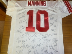 NY Giants Team Signed 2011-12 Jersey