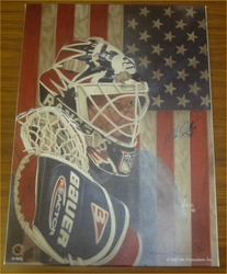NY Rangers Mike Richter Signed Giclee On Canvas