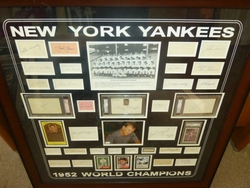 NY Yankees 1952 WS Champs Signed Collage <br> 36 Signatures