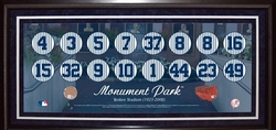 NY Yankees Monument<br> Park Retired Numbers