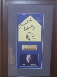 Original Drawing of Snoopy with Photo