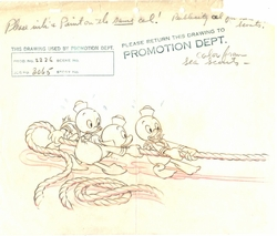 "Original Production Drawing ""Sea Scouts"" 1939"