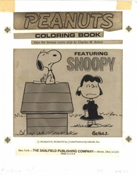 Peanuts Coloring Book - SOLD