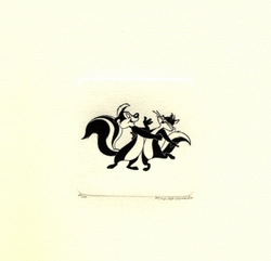 Pepe & Kitty Dancing <br>Small Etching - SOLD OUT