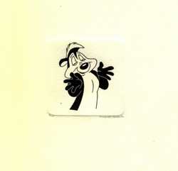 Pepe Le Pew Shrugging<br> Small Etching - SOLD OUT