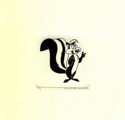 Pepe le Pew Smiling Small Etching - SOLD OUT