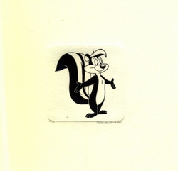 Pepe Le Pew With Arms<br> Out Small Etching