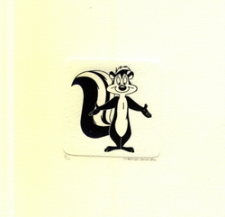 Pepe Le Pew With Arms<br> Out Small Etching - SOLD OUT